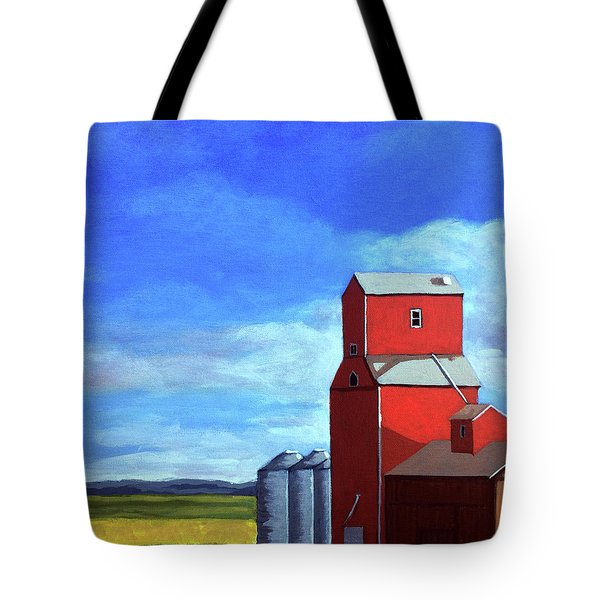 Tote Bag featuring the painting Standing Tall by Linda Apple