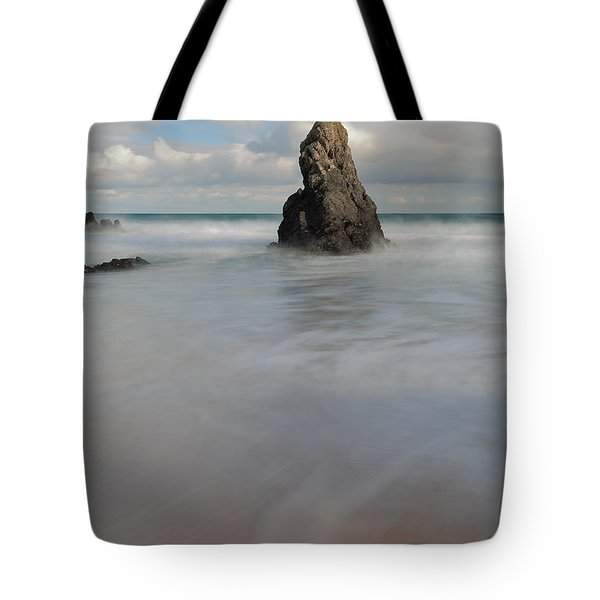 Tote Bag featuring the photograph Standing Tall On Sango Bay by Maria Gaellman