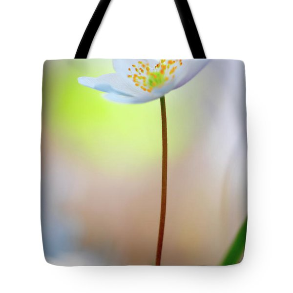 Standing Tall With Pride - Wood Anemone Wild Flower Tote Bag