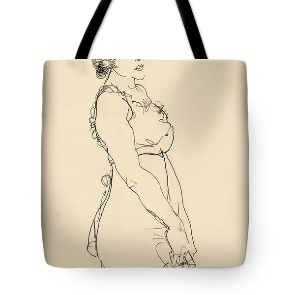 Standing Woman Tote Bag