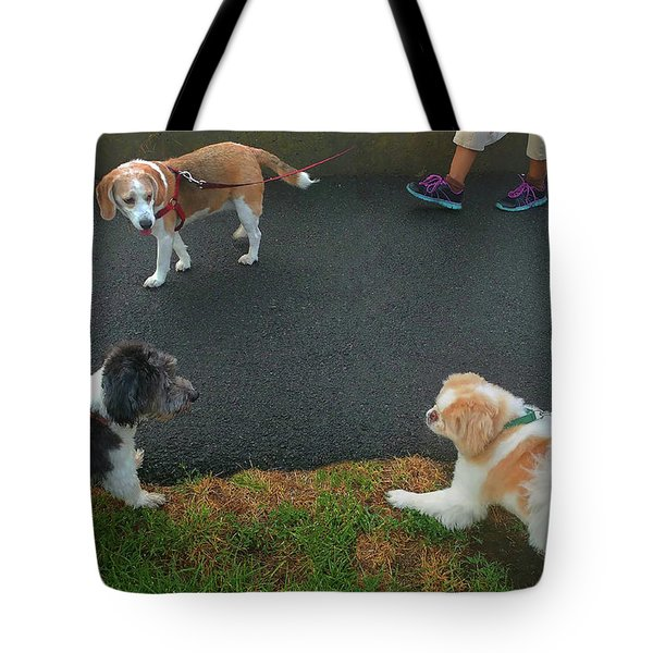 Tote Bag featuring the photograph Standoff by Roger Bester