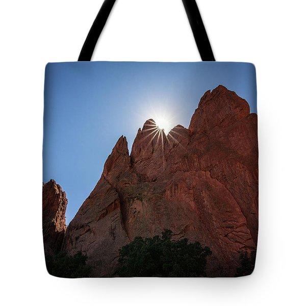 Standstone Sunburst - Garden Of The Gods Colorado Tote Bag