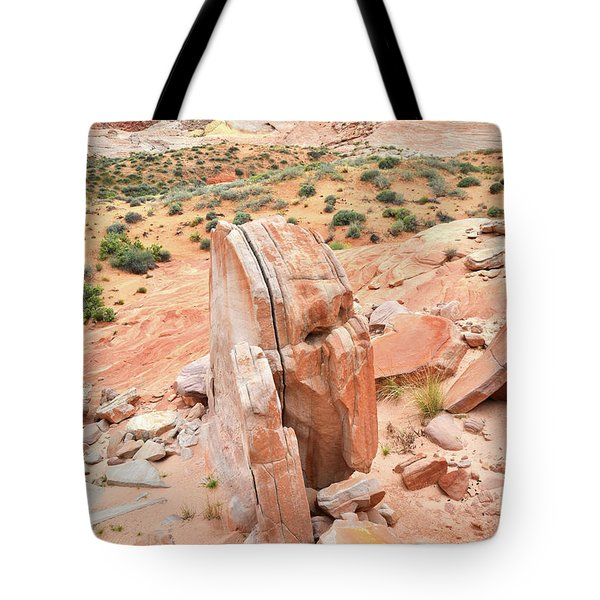 Tote Bag featuring the photograph Standup Sandstone In Valley Of Fire by Ray Mathis