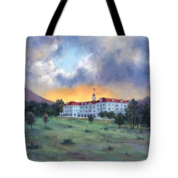 Stanley Hotel Sunset Tote Bag