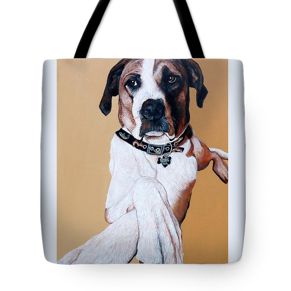 Tote Bag featuring the painting Stanley by Tom Roderick