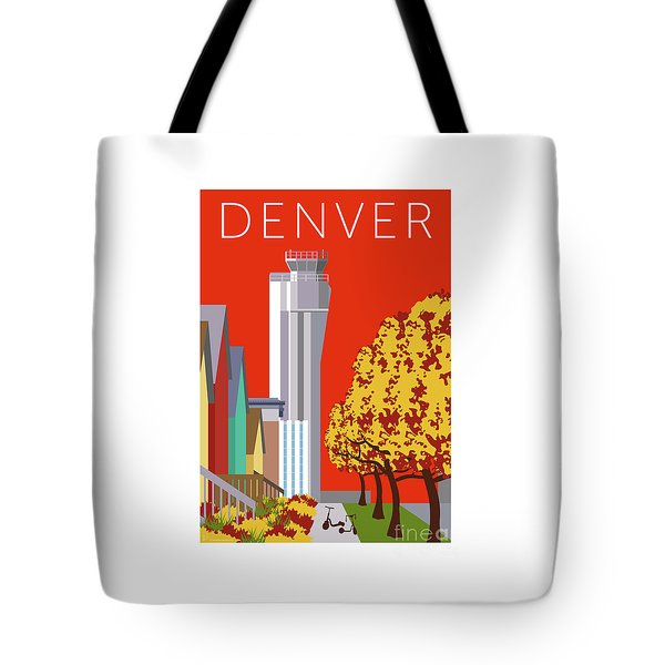 Tote Bag featuring the digital art Stapleton Fall by Sam Brennan
