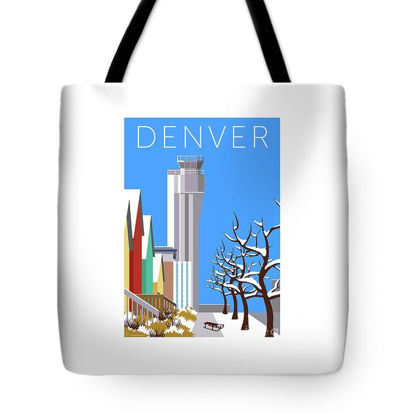 Tote Bag featuring the digital art Stapleton Winter by Sam Brennan