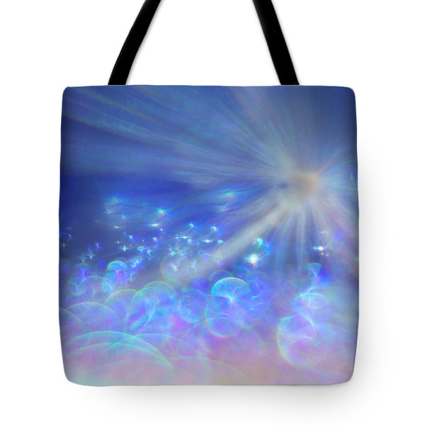 Tote Bag featuring the photograph Star And Bubbles by Greg Collins