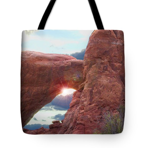 Tote Bag featuring the digital art Star Arch by Gary Baird