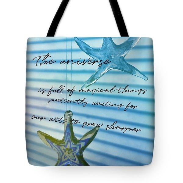 Star Bright Quote Tote Bag