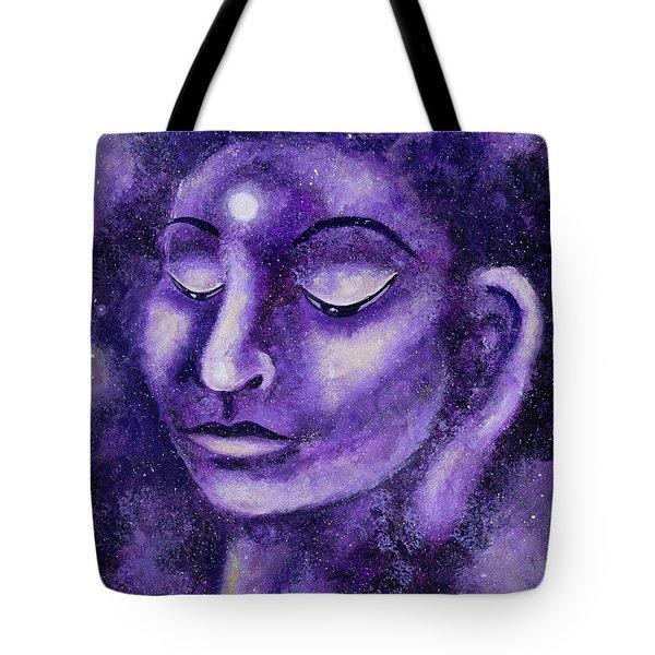 Star Buddha Of Purple Patience Tote Bag