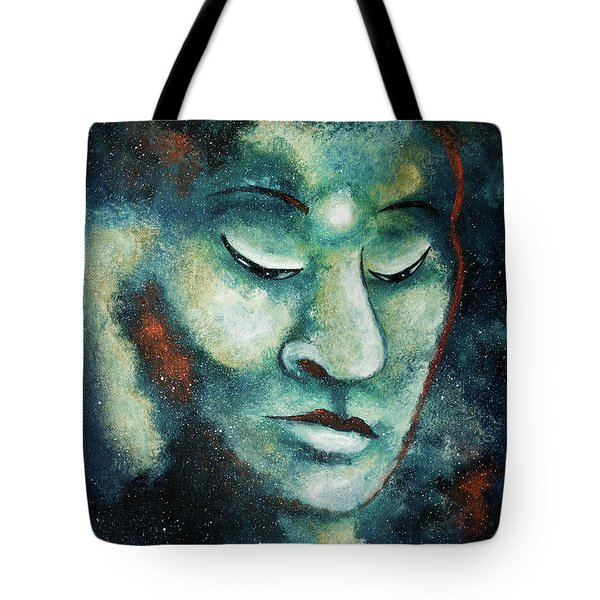 Star Buddha Of Teal Tranquility Tote Bag