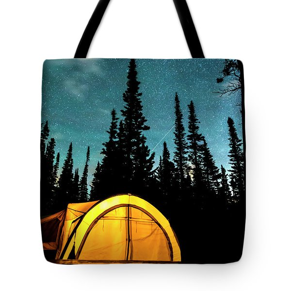 Tote Bag featuring the photograph Star Camping by James BO Insogna