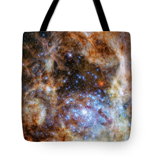 Tote Bag featuring the photograph Star Cluster R136 by Marco Oliveira
