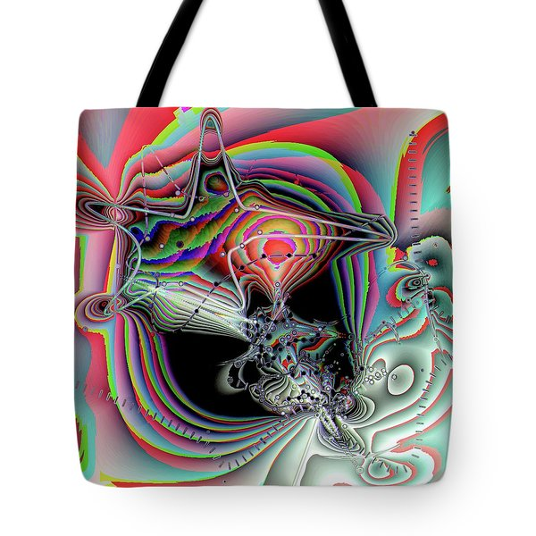 Star Defomation Tote Bag by Ron Bissett