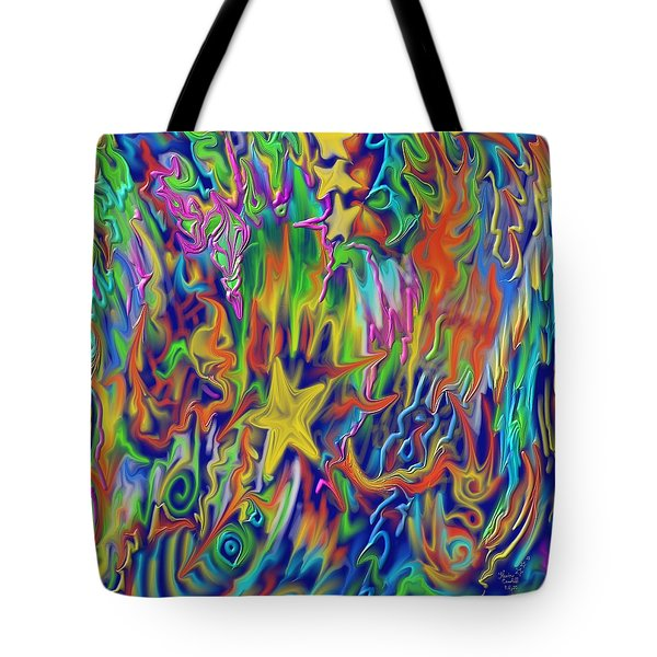 Star E Nite Tote Bag by Kevin Caudill