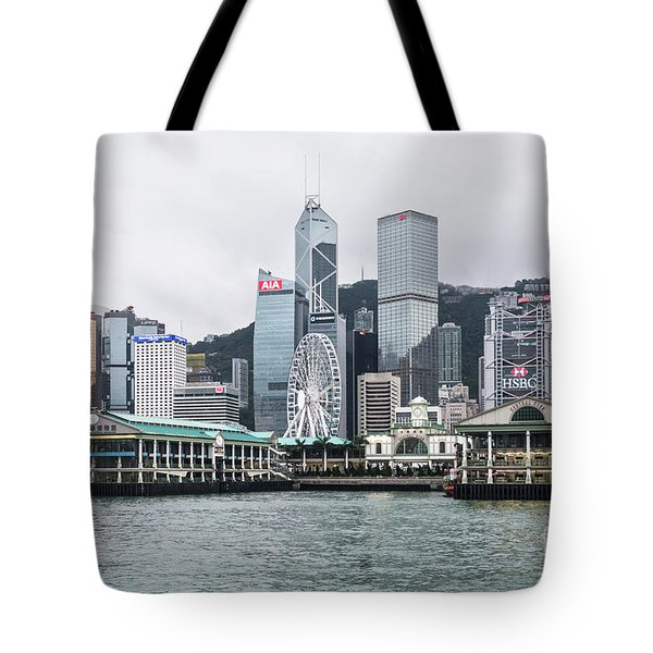 Star Ferry Building Terminal In The Central Business District Of Tote Bag