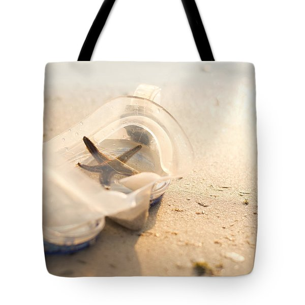 Star Fish In A Diving Mask  Tote Bag