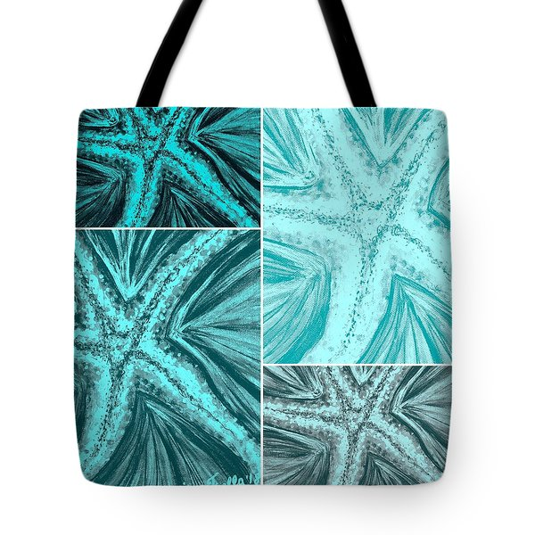 Starfish Pop Art Tote Bag