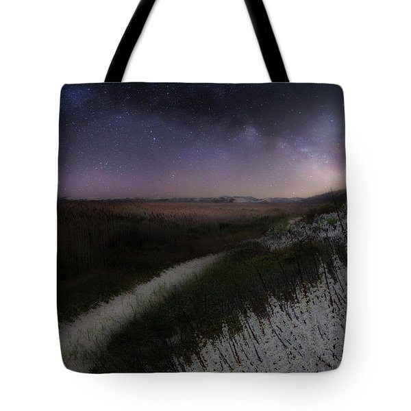 Tote Bag featuring the photograph Star Flowers by Bill Wakeley