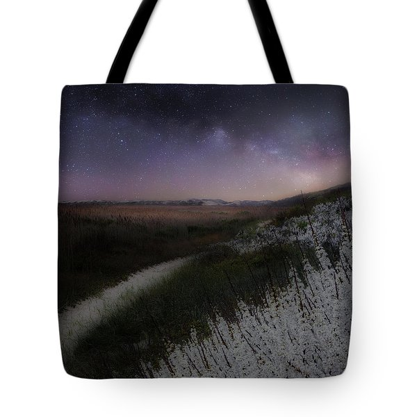 Tote Bag featuring the photograph Star Flowers Square by Bill Wakeley