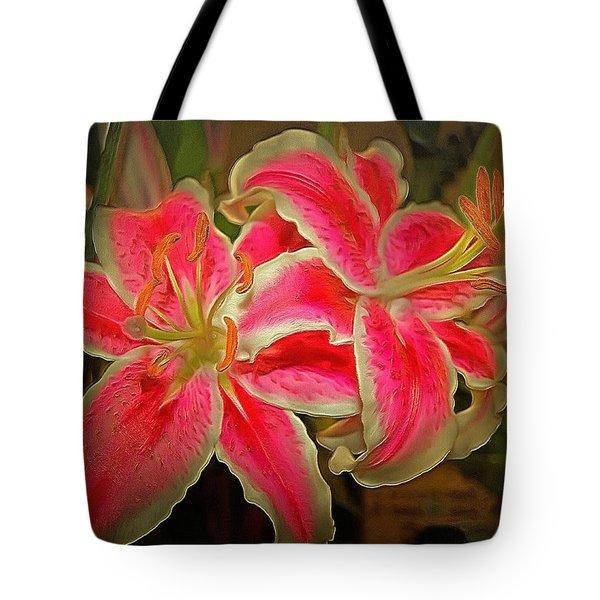 Star Gazer Lilies Tote Bag