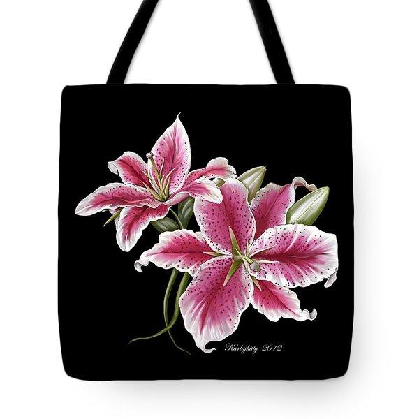 Star Gazer Lillies Tote Bag