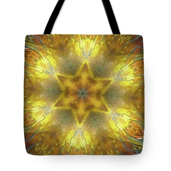 Star Kaleidoscope Tote Bag by Wim Lanclus