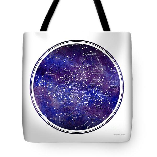 Star Map Iv Tote Bag