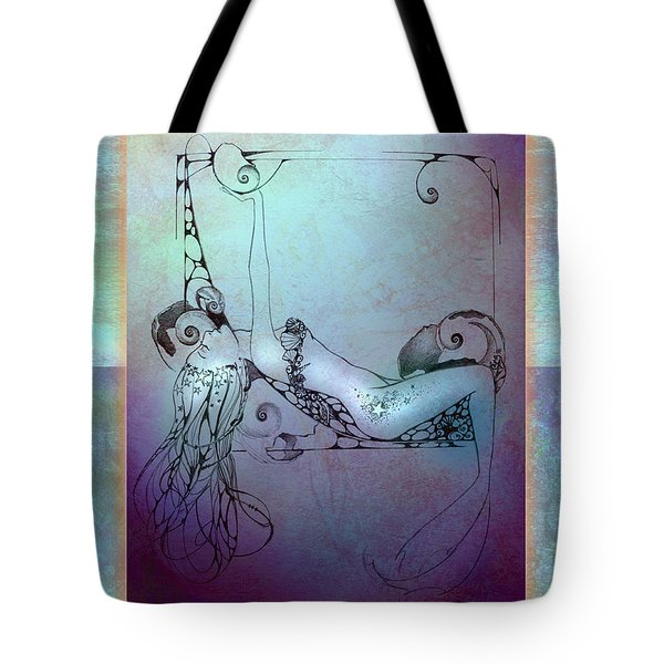 Star Mermaid Tote Bag by Ragen Mendenhall
