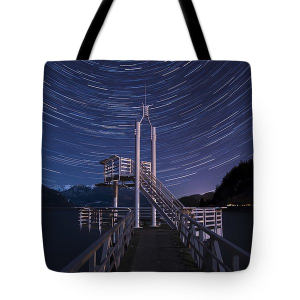 Tote Bag featuring the photograph Star Movement by Windy Corduroy