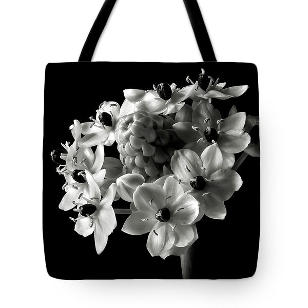 Star Of Bethlehem In Black And White Tote Bag