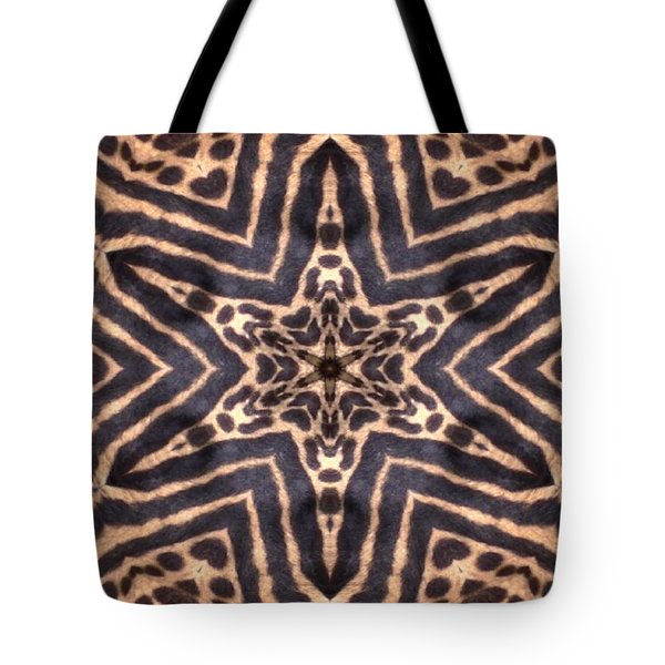 Star Of Cheetah Tote Bag by Maria Watt