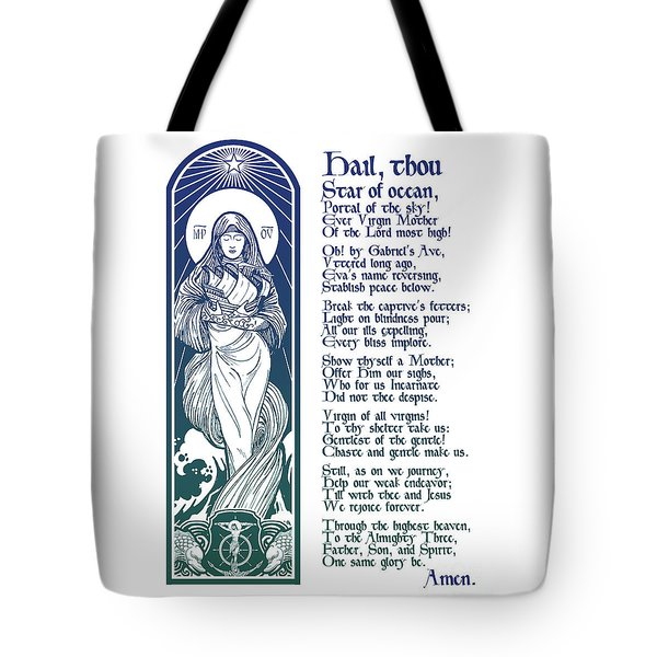 Star Of The Sea Song Tote Bag by Lawrence Klimecki