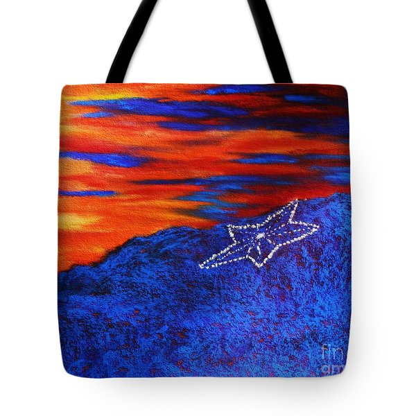 Star On The Mountain Tote Bag