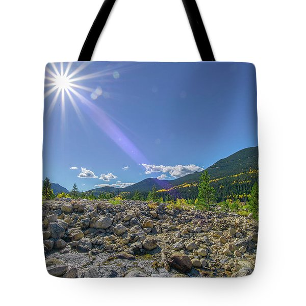 Star Over Creek Bed Rocky Mountain National Park Colorado Tote Bag