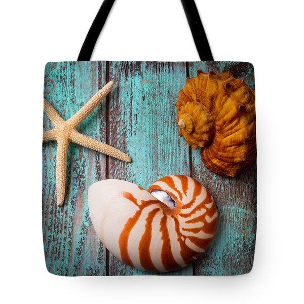 Star Shell Still Life Tote Bag