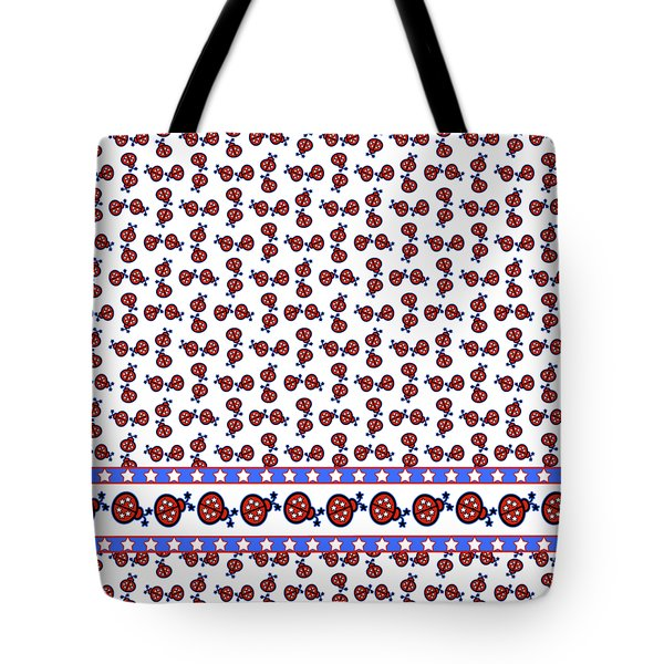Star-spangled Lady Bugs Tote Bag by Methune Hively