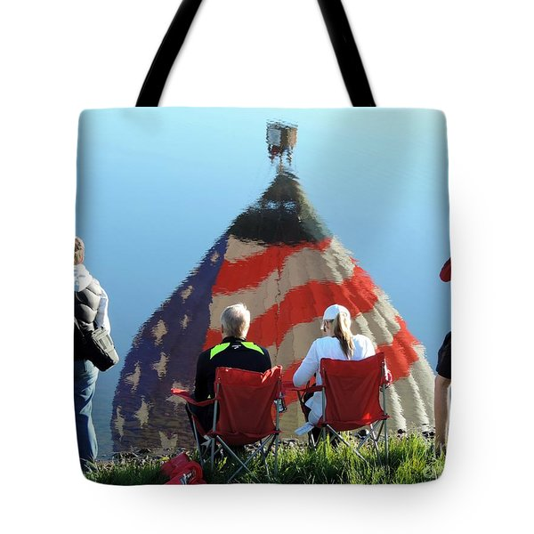 Star Spangled Morning Tote Bag by Tom Riggs
