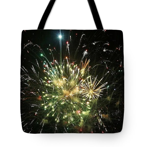 Star Spangling Fireworks Tote Bag