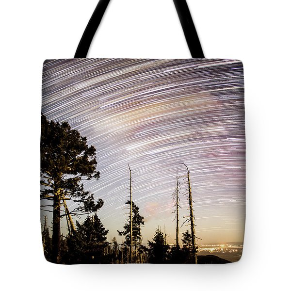 Star Trails At Fort Grant Tote Bag
