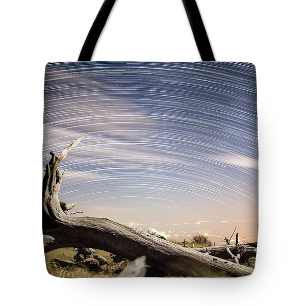 Star Trails By Fort Grant Tote Bag