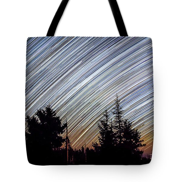 Star Trails From Mt. Graham Tote Bag