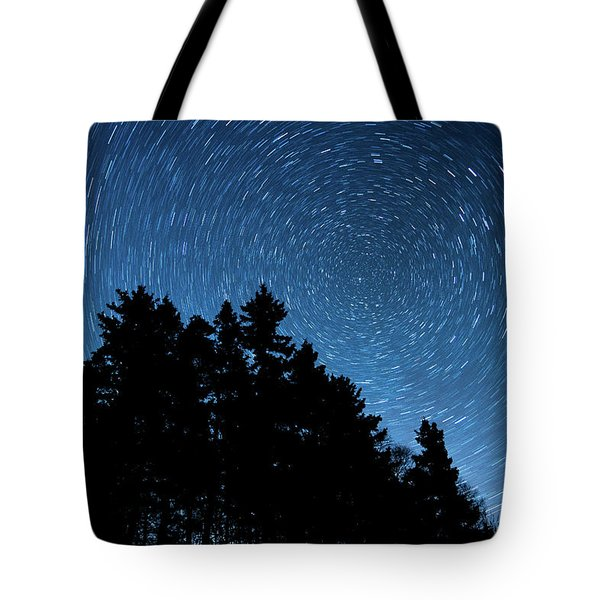 Star Trails In Acadia Tote Bag