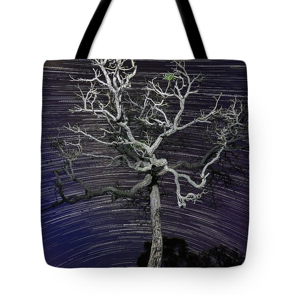 Star Trails In The Cerrado Tote Bag