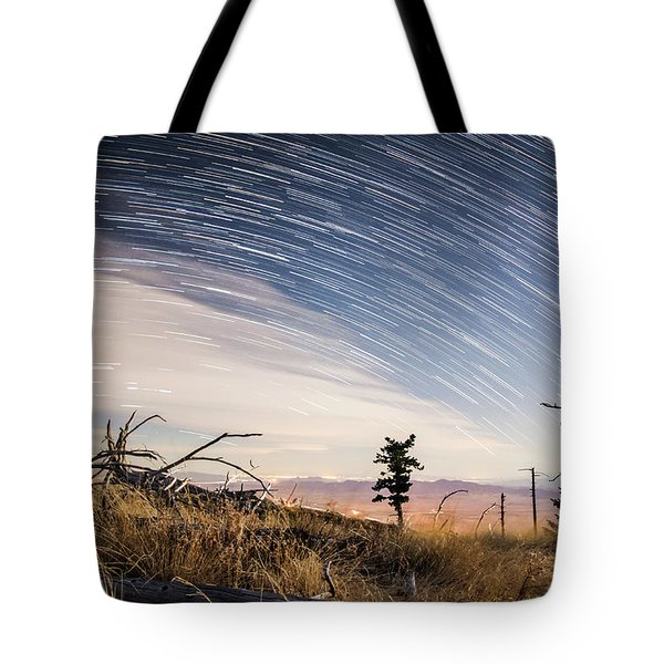 Star Trails Over Mt. Graham Tote Bag