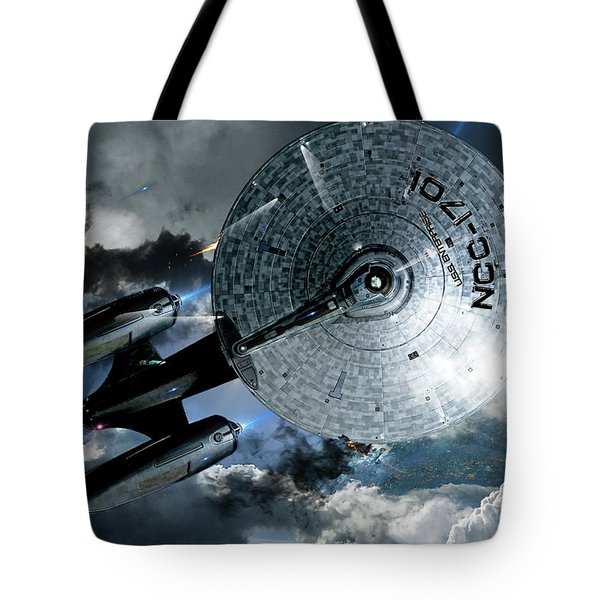 Star Trek Into Darkness, Original Mixed Media Tote Bag
