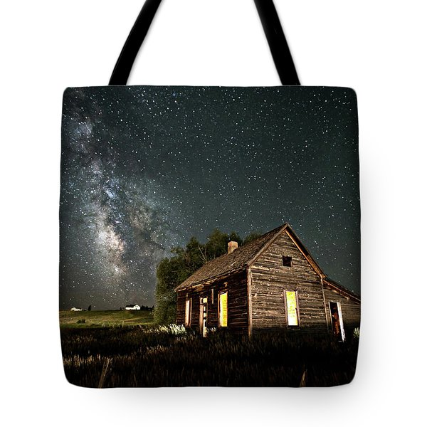Star Valley Cabin Tote Bag