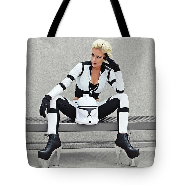 Star Wars By Knight 2000 Photography- Clone Trooper Tote Bag by Laura Michelle Corbin