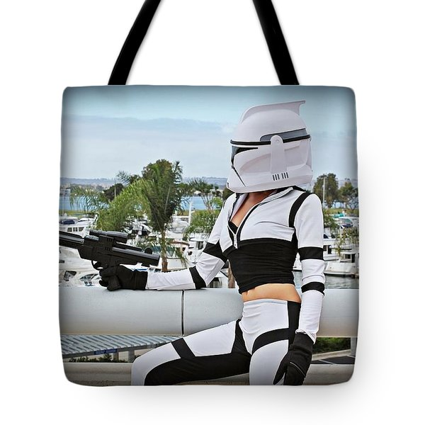 Star Wars By Knight 2000 Photography - Clone Wars Tote Bag by Laura Michelle Corbin